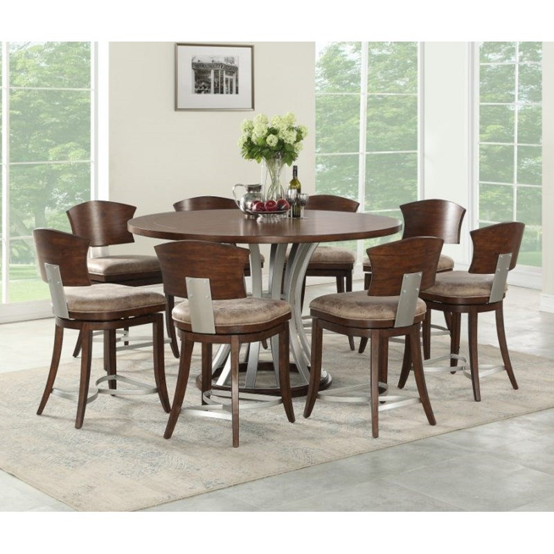 Oxford Hills 9-Piece Pub Table and Chair Set by Emerald at Northeast Factory Direct