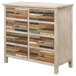 Multi Color 8-Drawer Accent Chest