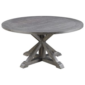 "60"" Round Dining Table with Double Pedestal Base"