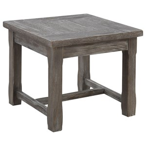 End Table with Rustic Charcoal Finish