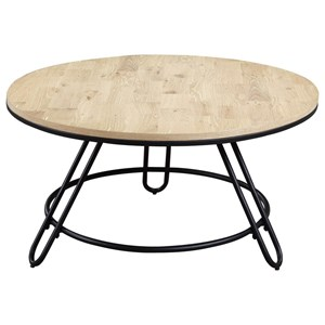 Industrial Cocktail Table with Swivel Top