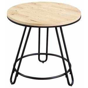 Industrial Round End Table