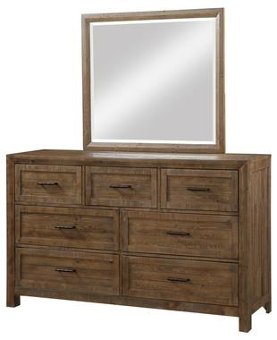 Pine Valley Dresser and Mirror by Emerald at Northeast Factory Direct