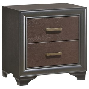 Transitional 2-Drawer Nightstand