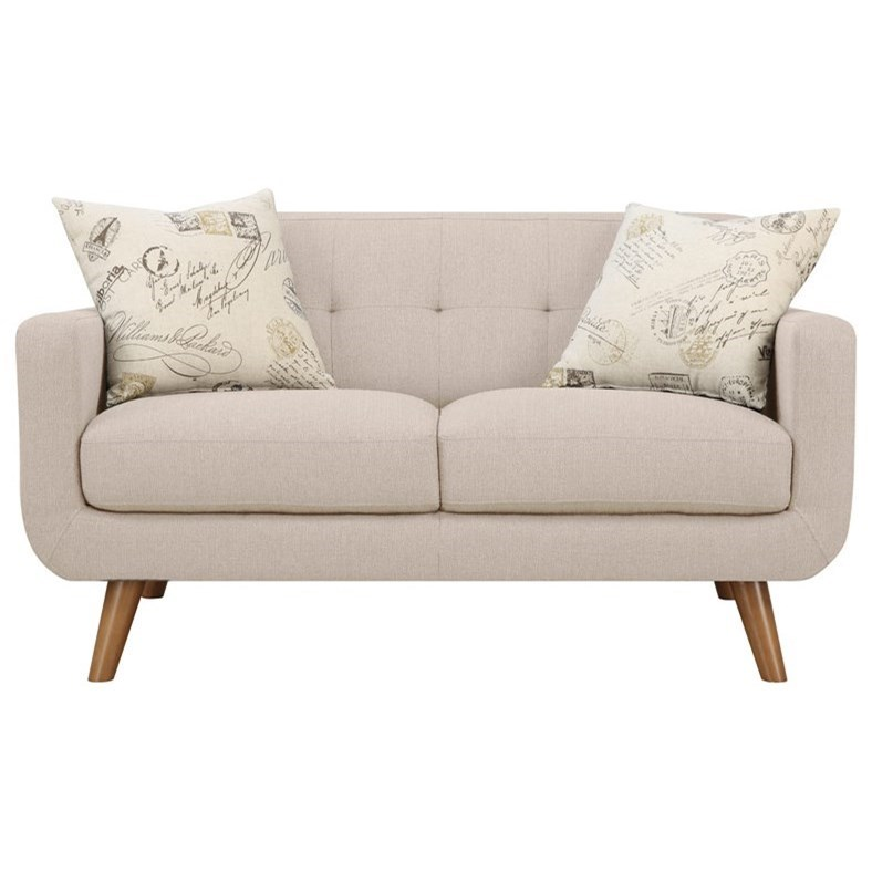 Remix Loveseat with 2 Accent Pillows by Emerald at Northeast Factory Direct