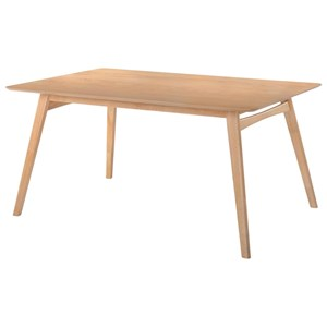 Rectangular Dining Table with Hardwood Splayed Legs