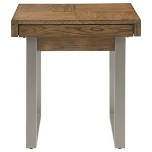 Contemporary End Table with USB Charging Port