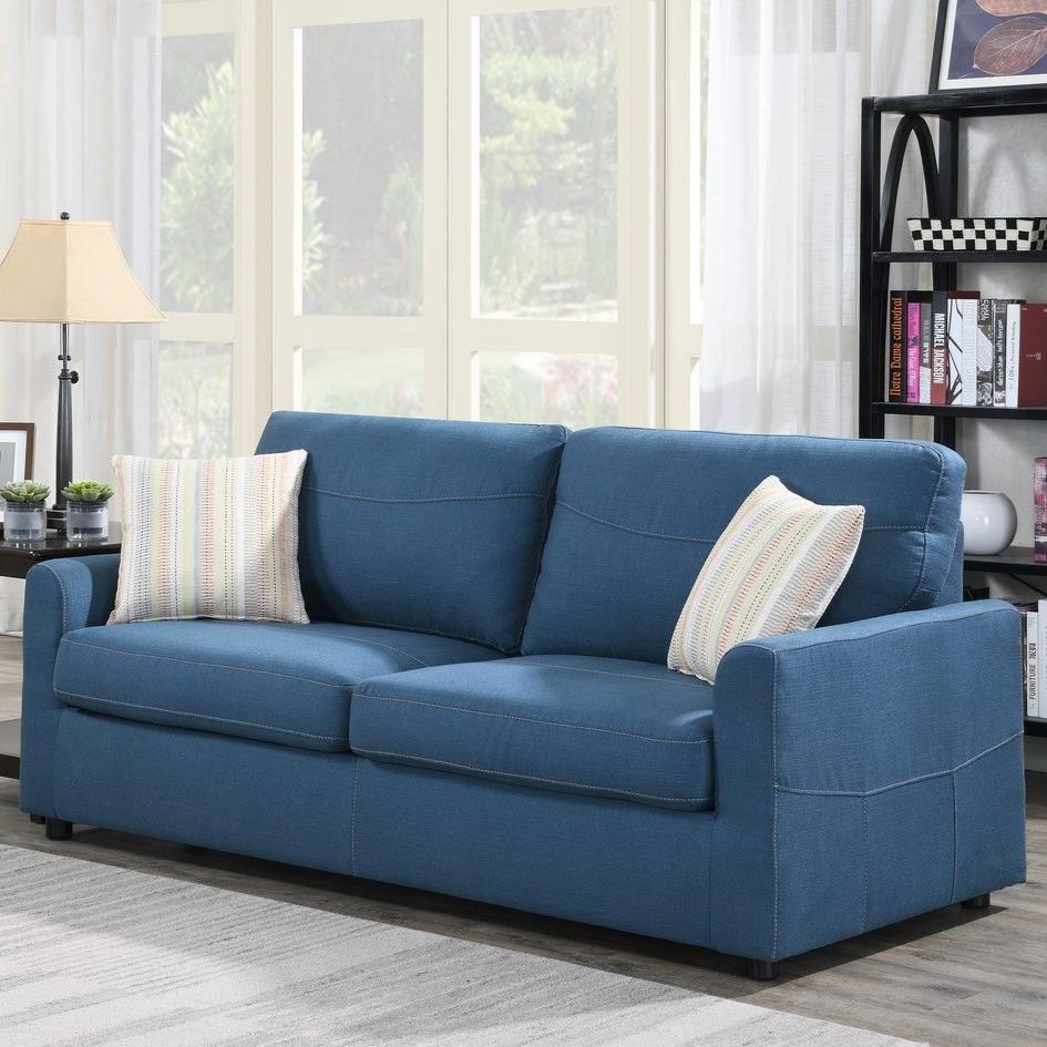 Slumber Queen Sleeper Sofa w/ Gel Foam Mattress by Emerald at Suburban Furniture