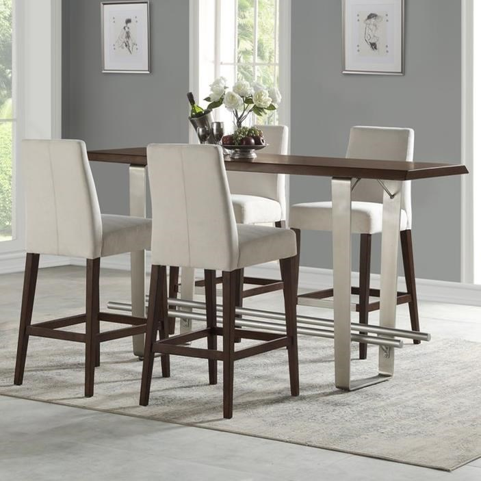 Sommerville 5-Piece Pub Table Set by Emerald at Northeast Factory Direct