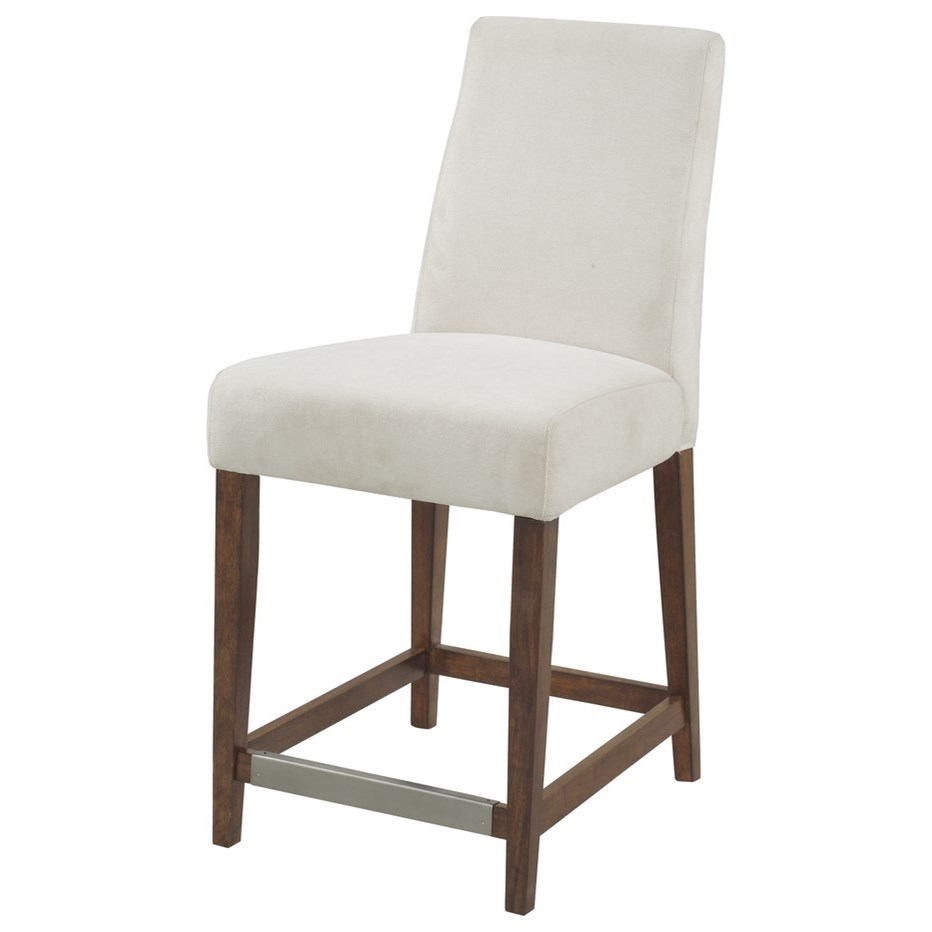 """Sommerville 24"""" Stool W/ Upholstered Seat & Back by Emerald at Northeast Factory Direct"""
