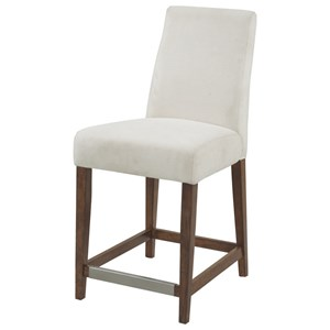 "24"" Counter Stool W/Upholstered Seat & Back"