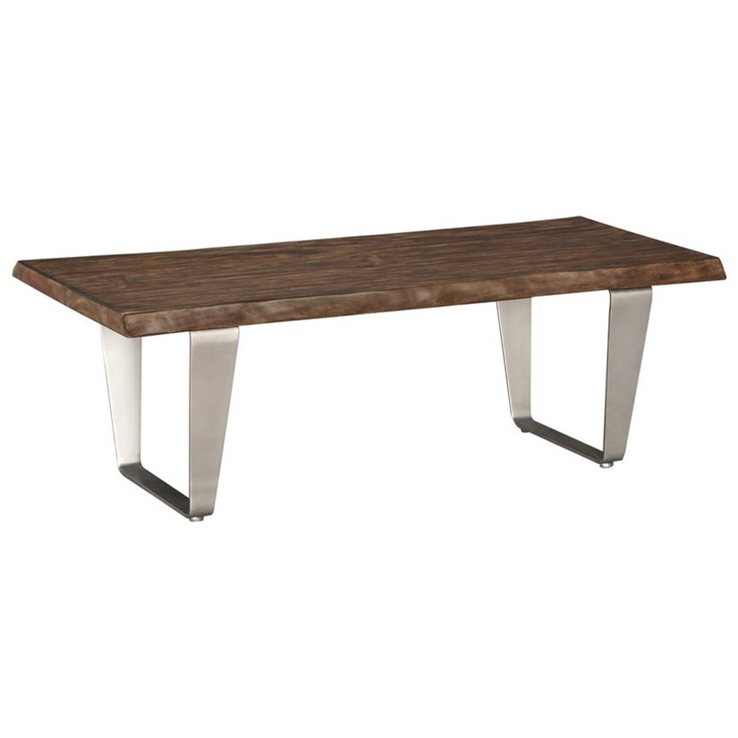 Sommerville Cocktail Table w/ Solid Top Mahogany by Emerald at Northeast Factory Direct