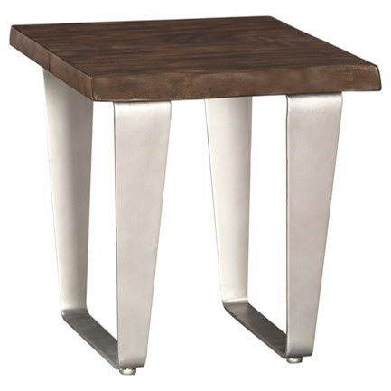 Sommerville End Table w/ Live Edge Solid Mahogany Top at Sadler's Home Furnishings