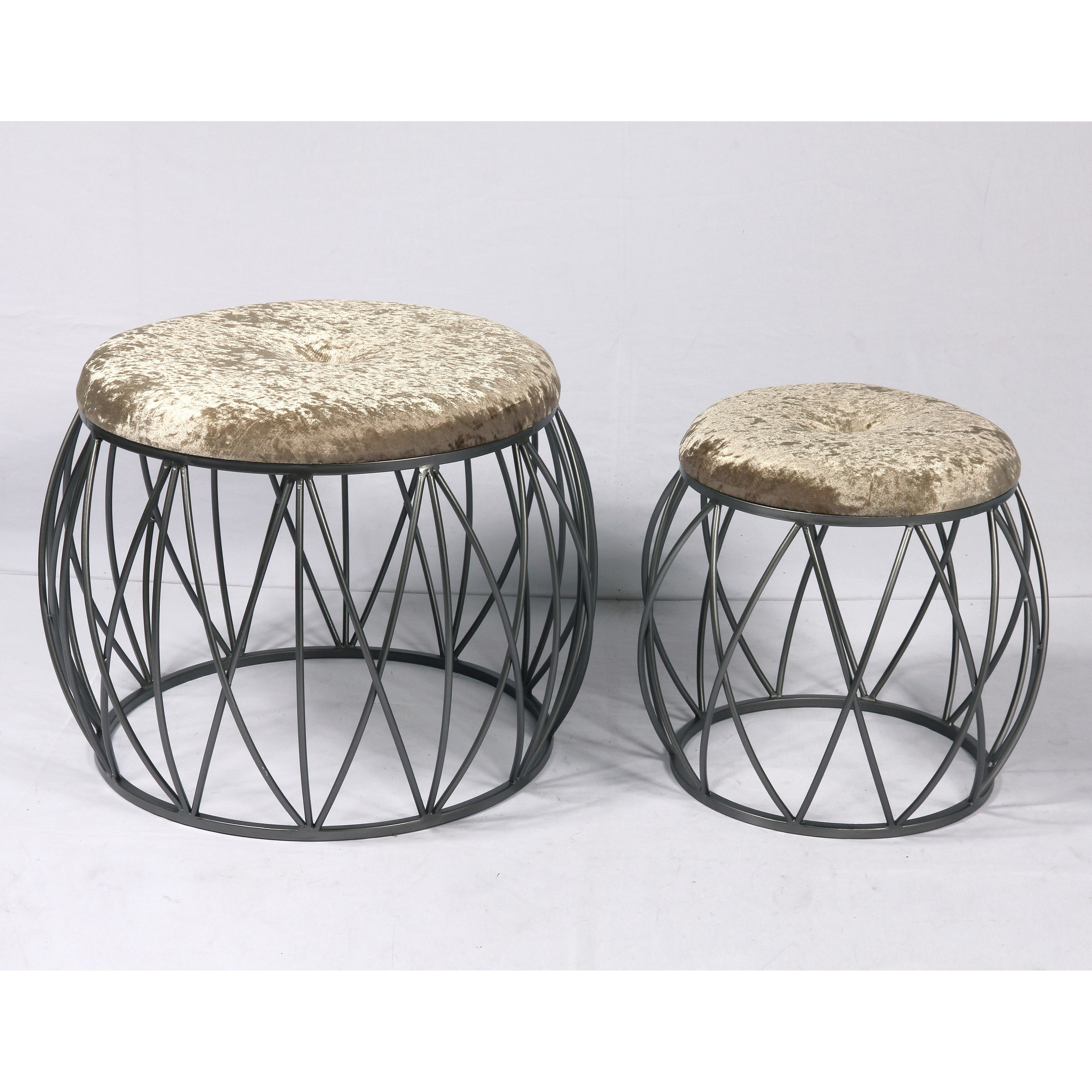 Sorrento 2Pc Set of Stools by Emerald at Northeast Factory Direct