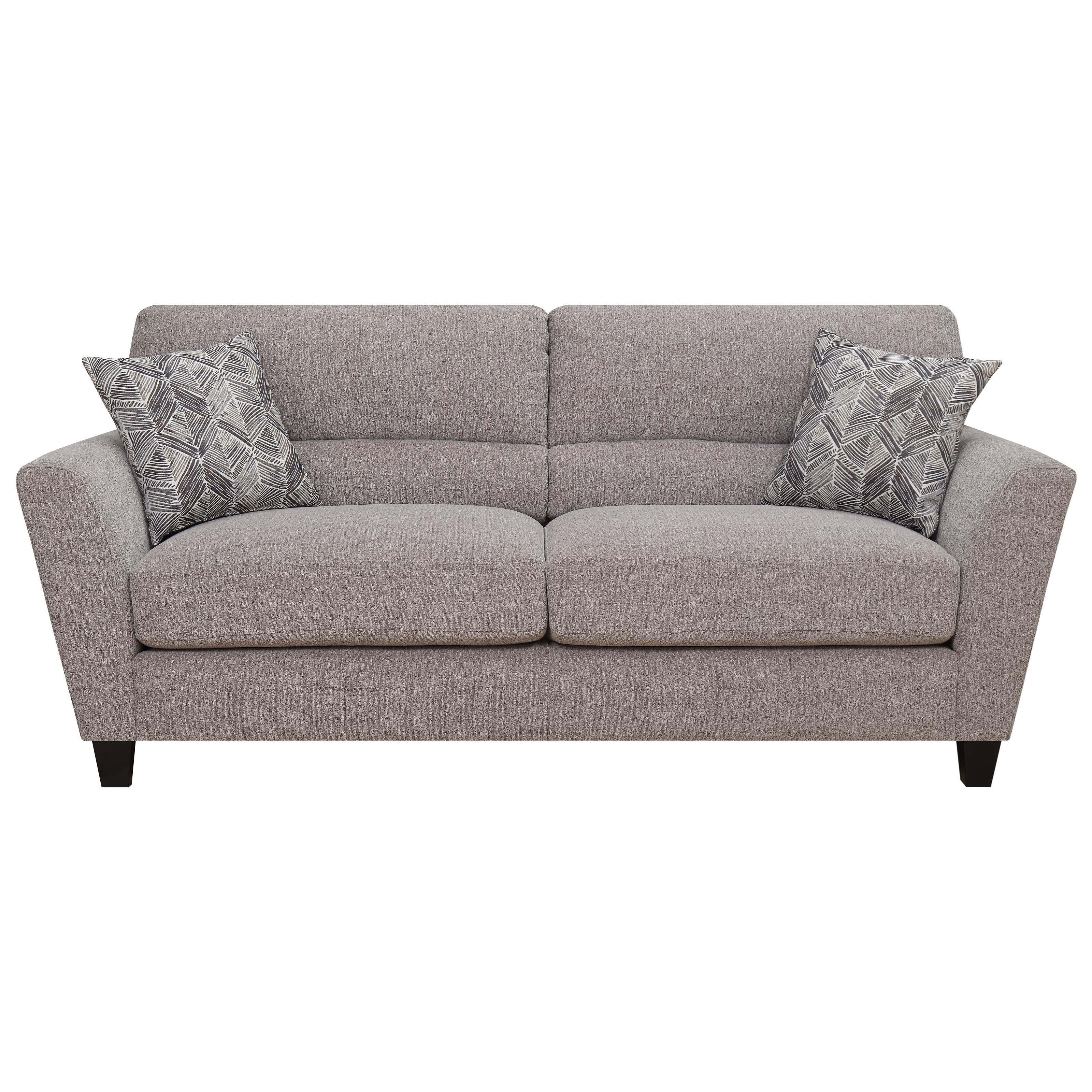 Speakeasy Sofa w/ 2 Accent Pillows by Emerald at Suburban Furniture