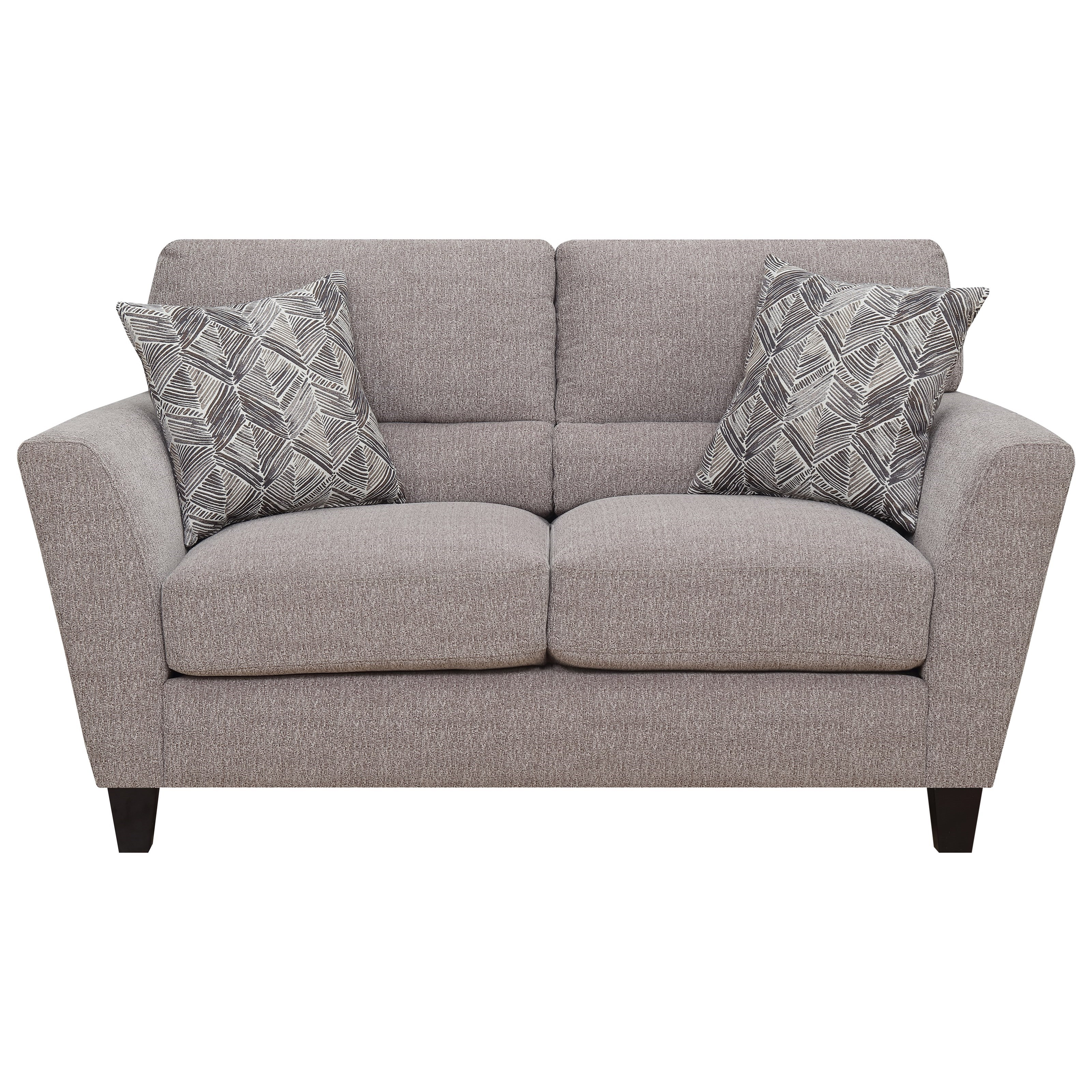 Speakeasy Loveseat w/ 2 Accent Pillows by Emerald at Northeast Factory Direct