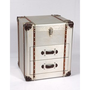 Glam 2-Drawer End Table