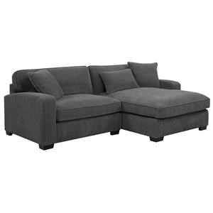 Charcoal 2 Piece Sectional Sofa with RSF Chaise