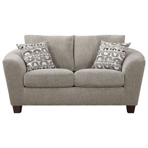 Loveseat with Loose Pillow Back