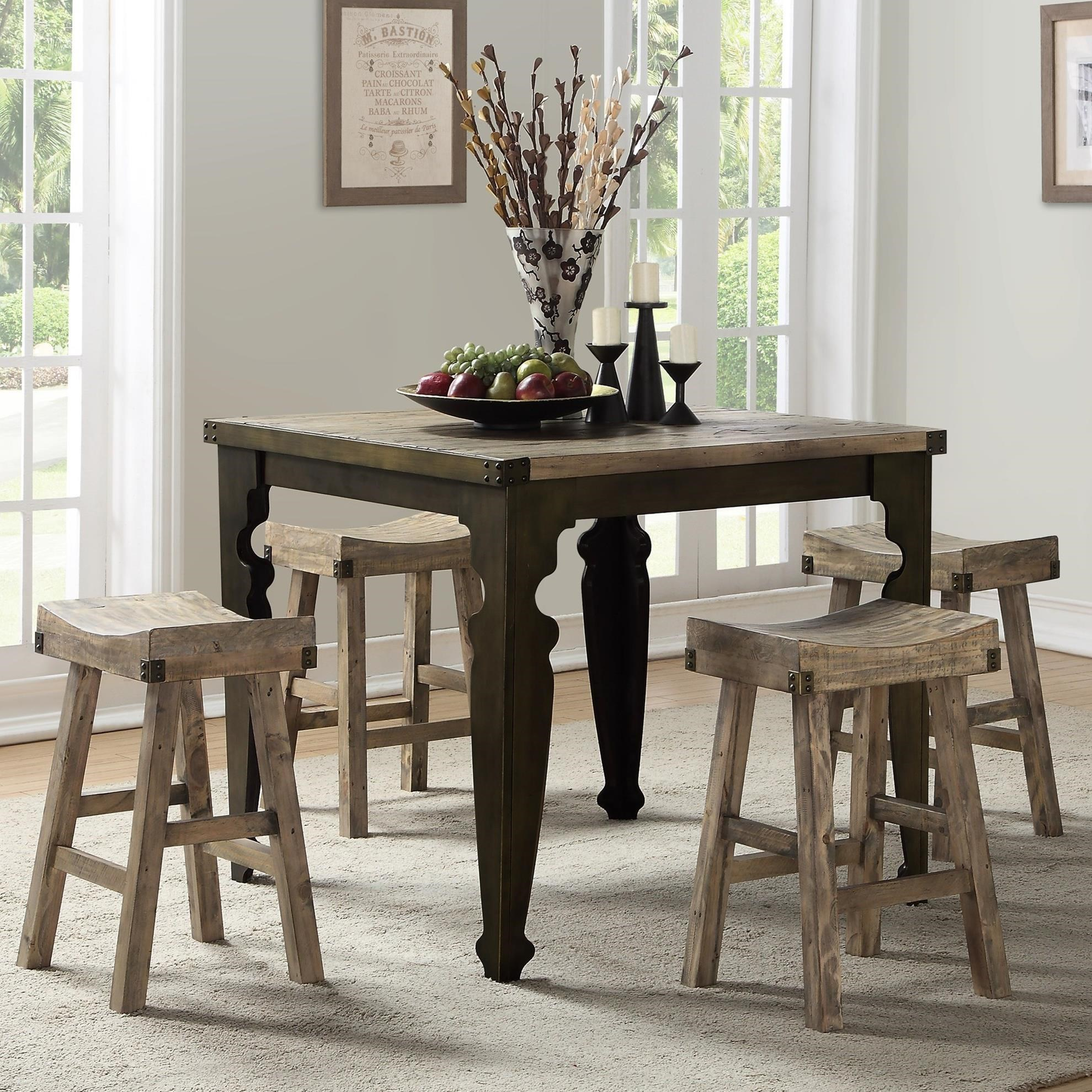 Valencia 5-Piece Pub Table and Chair Set by Emerald at Suburban Furniture