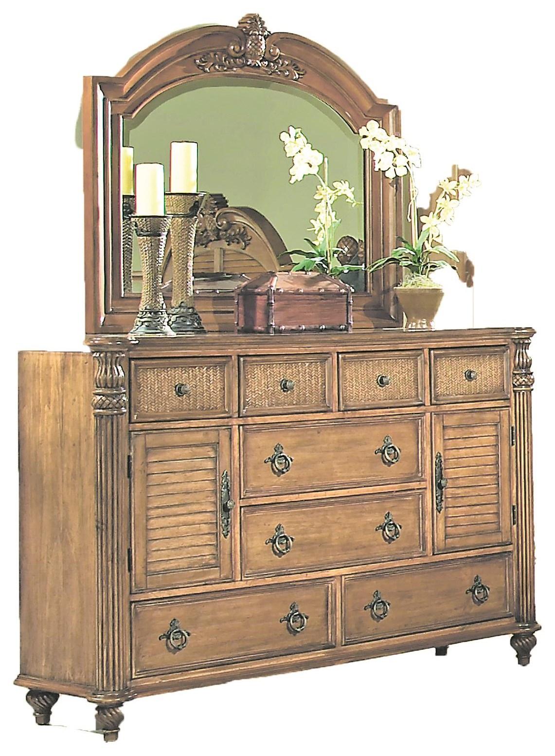 Key West Tropical Dresser by Endura Furniture at Baer's Furniture