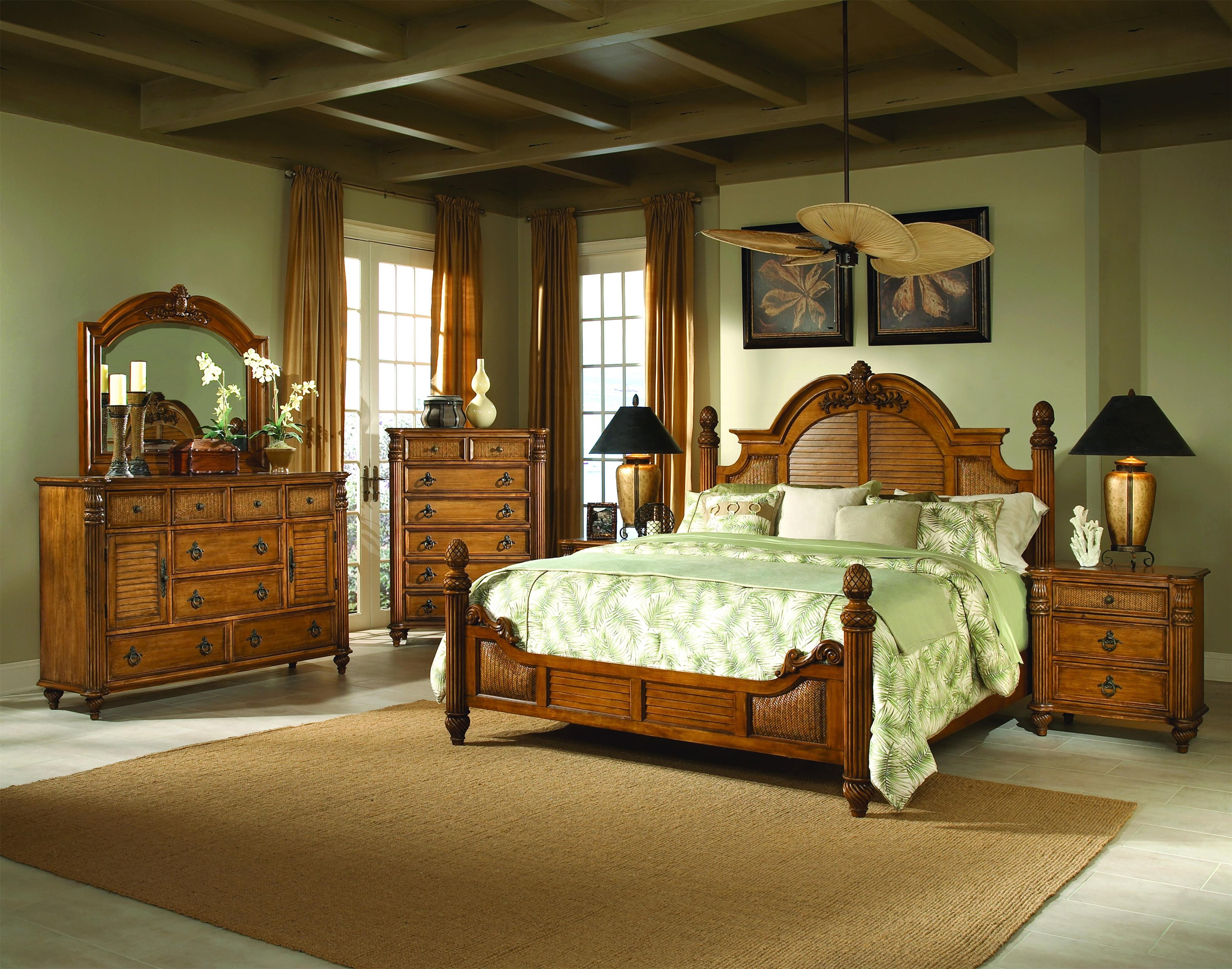 Key West Tropical Bed by Endura Furniture at Baer's Furniture