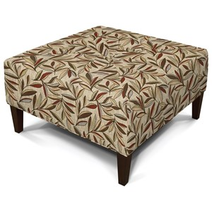 Sleek and Sophisticated, Square Ottoman with Modern Style