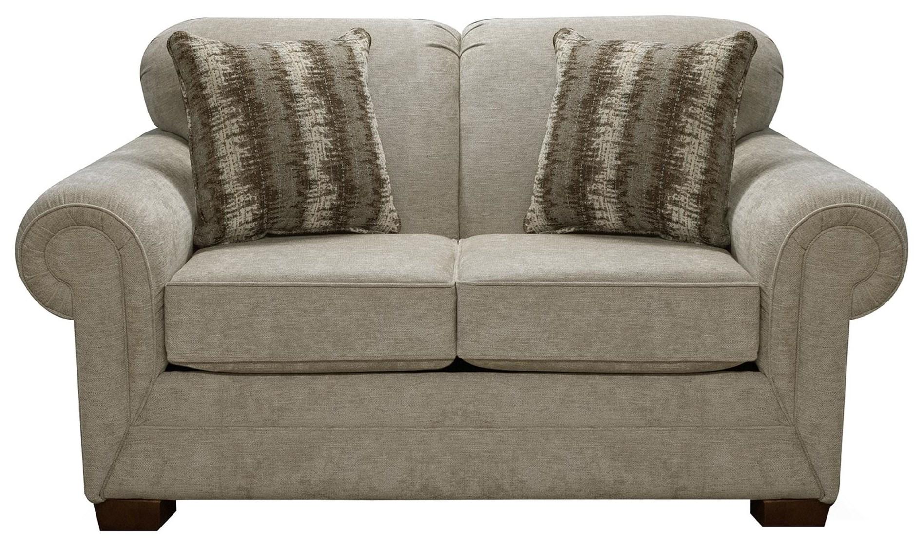 42504 Upholstered Loveseat by England at Sadler's Home Furnishings
