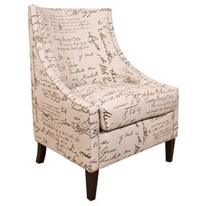 Transitional Wing Chair with Contemporary Living Room Furniture Style