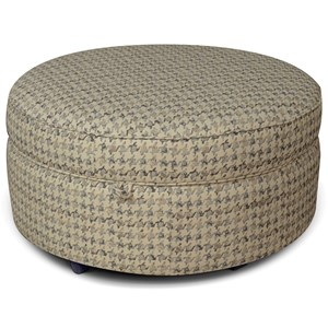 Round Storage Ottoman for Casual Elegance