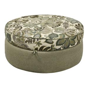 Round Storage Ottoman for Casual Elegance