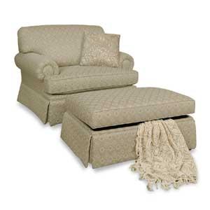 England Cambria Chair and Ottoman