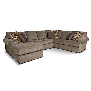 Left Chaise Sectional Sofa with Large Cushions