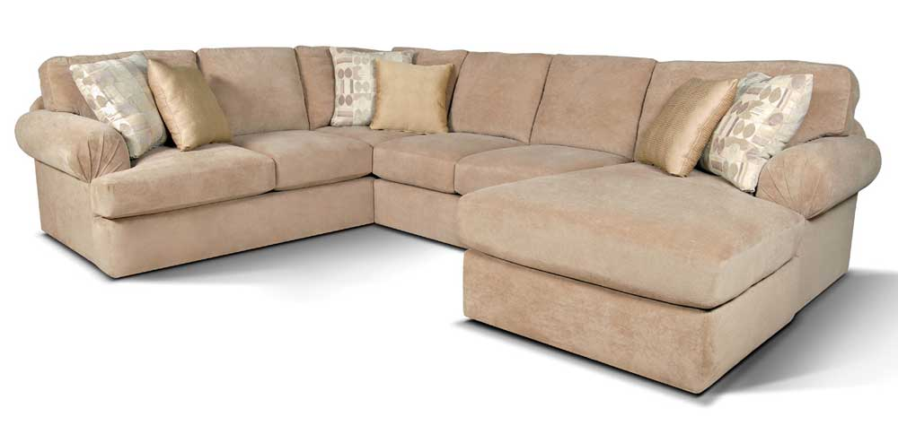 Abbie Sectional Sofa with Right Chaise by England at Corner Furniture