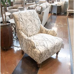 Cottage Accent Chair with Traditional Furniture Style and Rolled Back