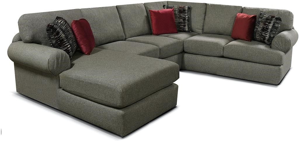 Abbie Sectional with Chaise by England at Crowley Furniture & Mattress