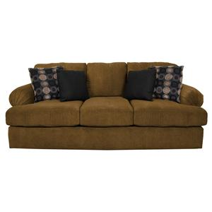 Sofa with Large Pleated Arms