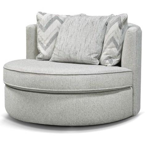 Alex Swivel Base Barrel Chair  by England at Crowley Furniture & Mattress