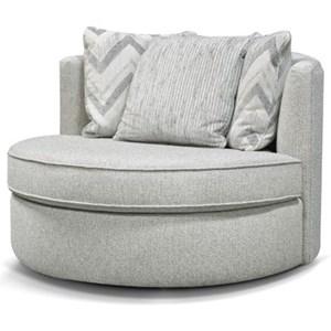 Swivel Base Barrel Chair