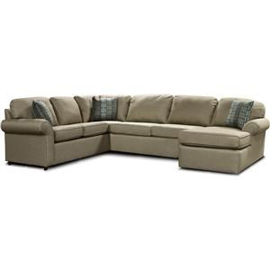 4 PIECE LAF SECTIONAL