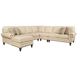 Seven Seat Sectional Sofa with Left Side Chaise