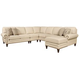 Seven Seat Sectional Sofa with Right Side Chaise