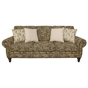 Traditional Styled Sofa with Nail Head Trim