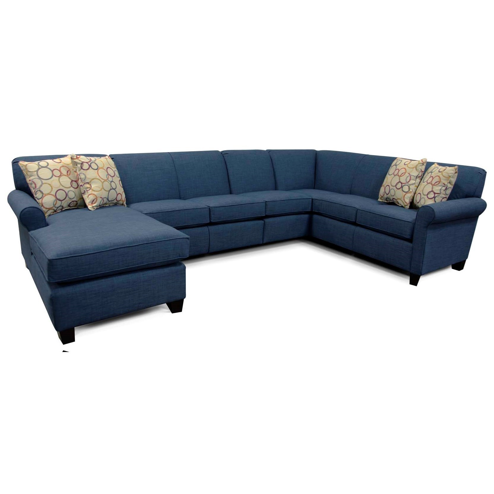 Angie  Sectional Sofa with 6 Seats  by England at Novello Home Furnishings