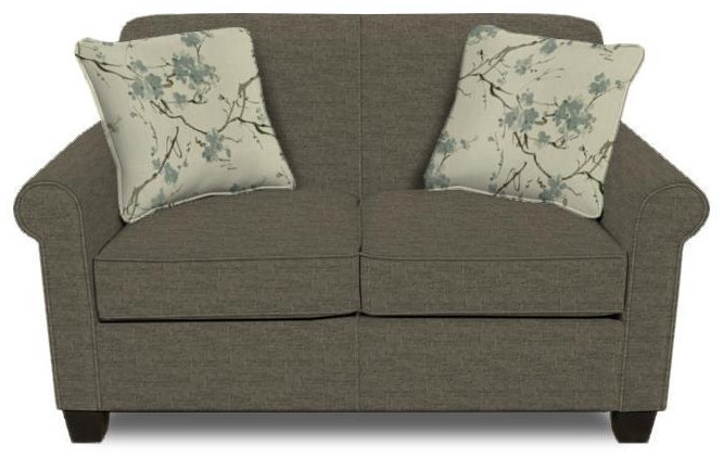 Damian Pepper Loveseat by England at Crowley Furniture & Mattress