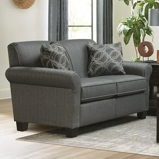 Angie  Rolled Arm Loveseat by England at Novello Home Furnishings