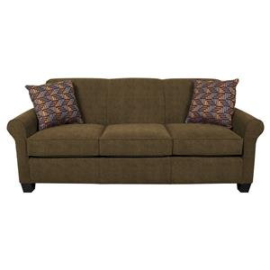 Queen Sleeper Sofa With Accent Cushions