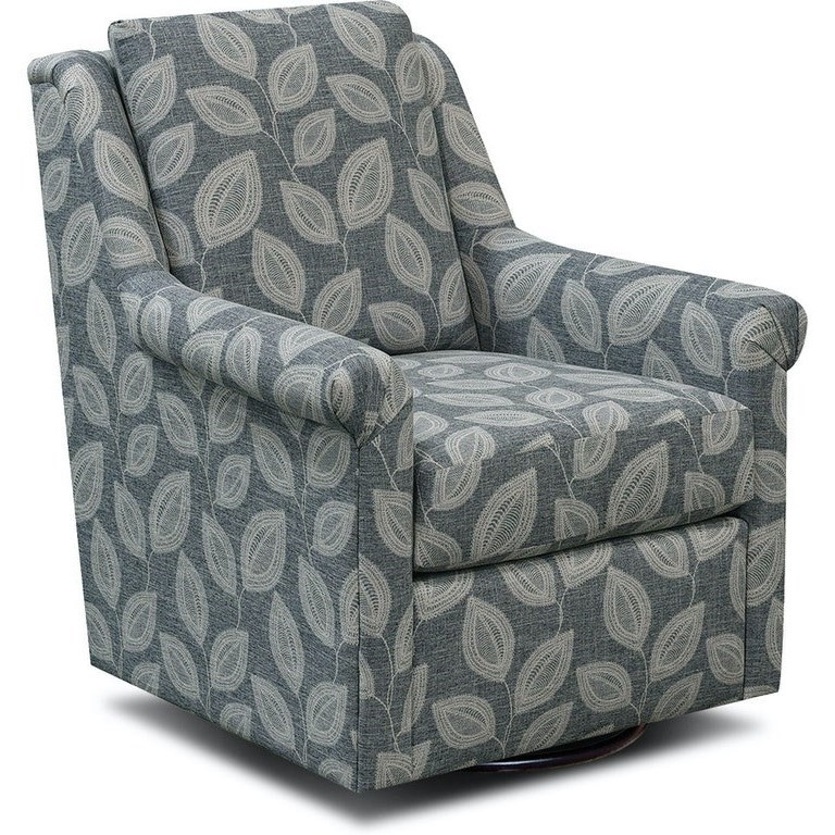Becca Swivel Chair by England at Miller Waldrop Furniture and Decor