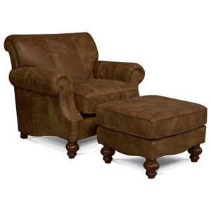 Upholstered Chair and Ottoman Set