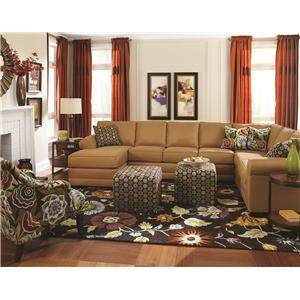 England Brantley 6 Seat Sectional with Chaise